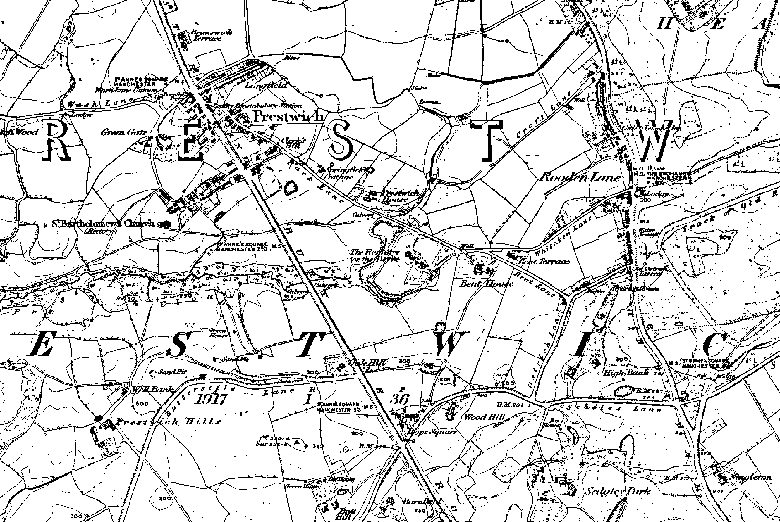 Maps Prestwich Whitefield Heritage Society - Old os maps